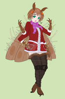 Akane the Cordyceps-infected Moth Girl by The-Episiarch