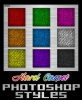 Photoshop Styles - Hard Carpet by JINXD-PARADOX