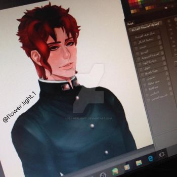 Kakyoin noriaki by FlowerLight1
