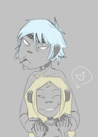 2D and Nina by GoRiLlAz6666