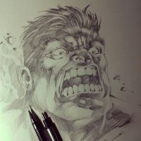 Sketch Hulk by MARCIOABREU7