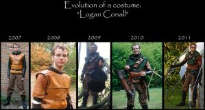 Evolution of a costume: 'Logan Conall' by Hellwolve