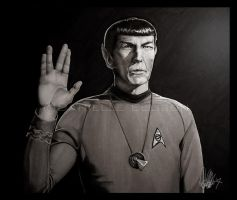 Mr. Spock Retouched by Marker-Mistress