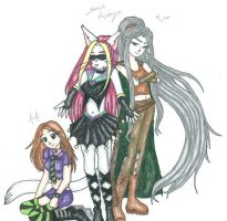 3 chars from 3 stories colored by Unisamas