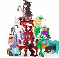 Rwby Christmas by hearts-and-pins