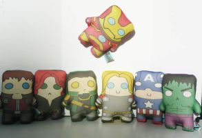 Mini Avengers ASSEMBLE by Cyber-Scribe-Screens