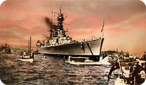 HMS Hood In Australia by RMS-OLYMPIC