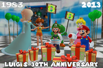 Luigi 30th anniversary by ZeFrenchM