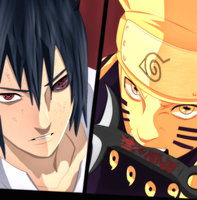 Naruto 673 - Naruto and Sasuke by X7Rust
