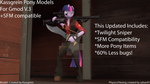 Twilight Sniper Update (Kassgrein Pony Models V3) by Sarcastic-Brony