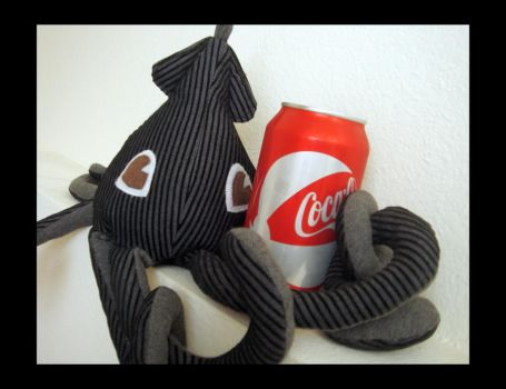 Black Gray Squid Plush 6 by TheCurseofRainbow