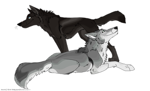 .: Commission: Wolfer Love :. by BeachBumDunkin