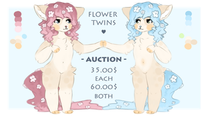 flower twins - auction (closed) by nhyku