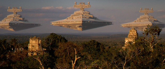 Star Wars - Star Destroyer F - Attack on Yavin 4 by BB22Andy