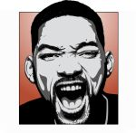 will smith illustration by crezo