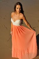 Annali - orange and white dress 6 by wildplaces
