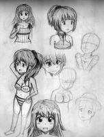 anime/manga style girls practice by DantemaruXXX