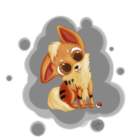 Chibi Growlithe by SkittleLittle