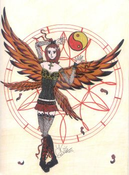 four winged angel by Kris-The-Chaotic