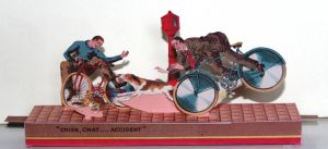 Chien, chat... accident  French Vintage Papercraft by SarienSpiderDroid