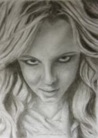 Britney Spears portrait by sammmkay