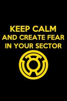 Keep Calm Yellow Lantern Background by KalEl7