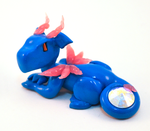Blue and Pink Protector Dragon by HowManyDragons