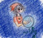 Demi and a Crystal Ball by WickedGhoul