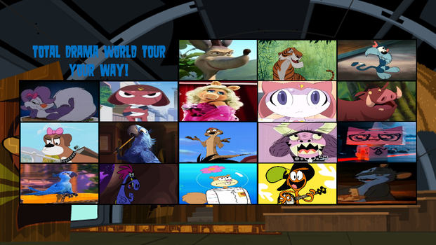 Total Creature World Tour Elimination Order by DEEcat98