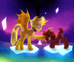 Bill Cipher and Dipper Ponies by Jack-a-Lynn