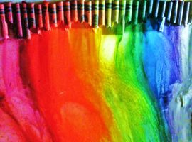 Melted Crayon Rainbow by Foxy-DemonGirl
