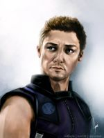 Jeremy Renner - Hawkeye by riotfaerie