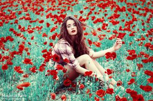 Into the Wild Red 1 by Michela-Riva