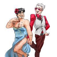 Akagi - Yukio and his hot date by weaselyperson