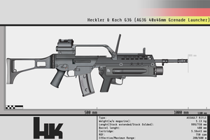 Heckler and Koch G36 with AG36 by Gasteiz