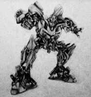 Bumblebee pencil drawing by MTERM775