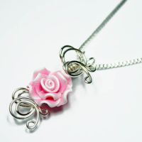 NEW Pink Rose Perfume Pendant by Create-A-Pendant