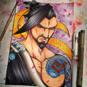 Hanzo - Overwatch by xxMi-ChansArtxx