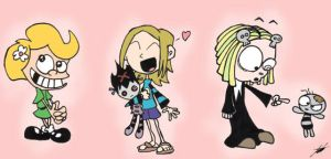 Patty, Gwen, and Lenore by cartoons4andy