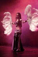 Feather Fan Belly Dance Stock 07 by LoryenZeytin