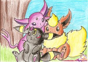 Eeveelutions by kiraradaisuki by jackstar93