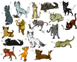 Cats set 1 CLOSED by Icedog829Adopts