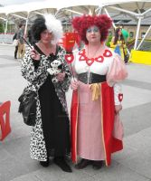 Cruella and The Queen of Hearts by ZeroKing2015