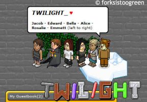 Twilight Characters in Habbo by forksistoogreen