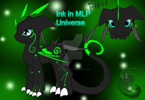 Ink in MLP universe 2nd try by InkTailedDragon