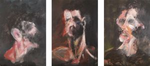 Three Studies for a Self Portrait II (triptych) by RyckRudd