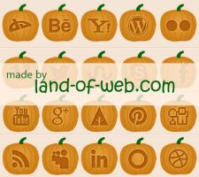 FREE Pumpkin Social Icons by NatalyBirch