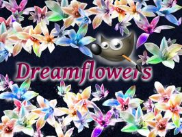 Dream flowers GIMP Brush by brushfs
