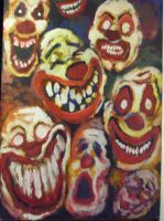 Mad clowns by Donutbombon