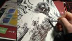 Ghostly owl WIP by Kaos-Nest